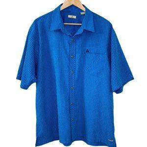 Ascend Men's Blue Wicking Short Sleeve Shirt